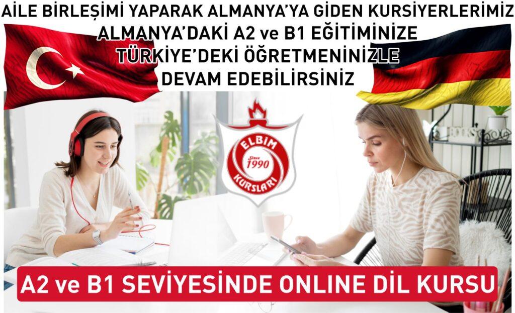 elbim aile birleşimi almanca a2 b1 online kurs